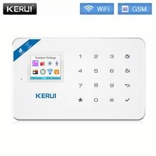 Kerui w18 wi fi sem fio gsm sistema de alarme segurança em casa painel alarme do assaltante inglês russo espanhol e francês língua