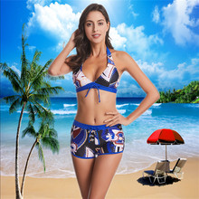 Large Size Swimsuit 2020 Sexy Women High Waist Bikini Swimwear Female Bandage Print Bikini Set Biquini Bathing Suit for Women
