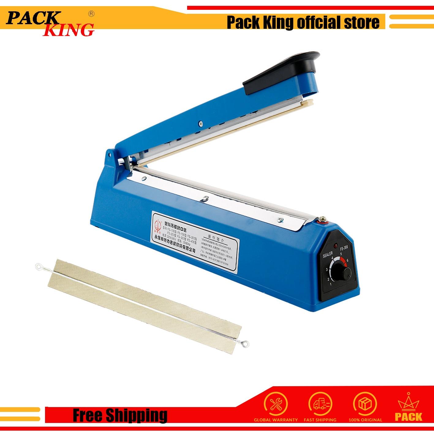 Impulse Sealer Heat Sealing Machine 200mm/300mm Kitchen Food Sealer Vacuum Bag Sealer Plastic Bag Packing Tools Free Shipping
