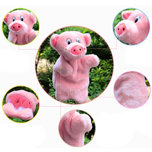 Lovely Pink Pig Hand Puppet Baby Kids Child Educational Soft Doll Plush Toy
