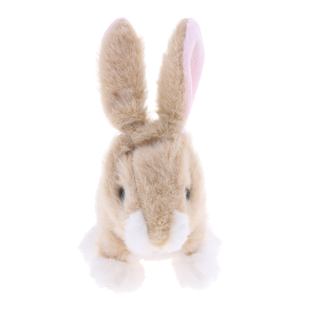 Electronic Plush Jumping Rabbit Toy Robot Walk Jump Waggle Ears Nose Gifts