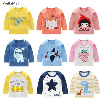Toddler Baby Boys Girls Clothes Spring Autumn Cotton Long Sleeved T-shirt Tops Children Infant Clothing Kids Bebes Tops A0072