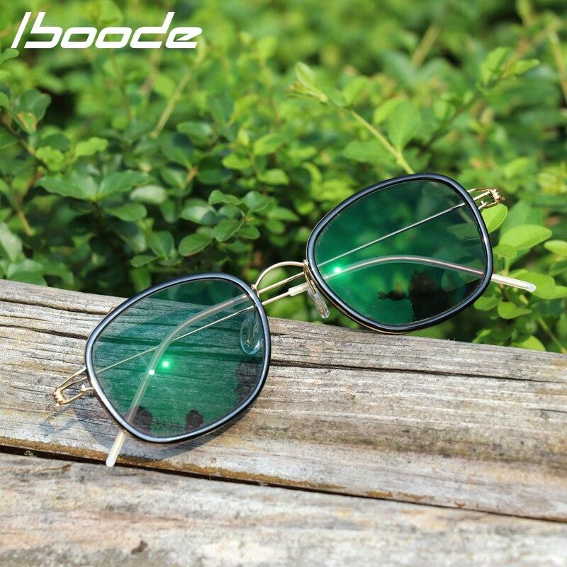 IBOODE New Reading Glasses Hand-Designed Glasses Sun Discolor Anti-radiation UV Smart Retro Hyperopia Prescription Eyeglasses