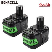 6000 мАч 18В литий-ионная аккумуляторная батарея для Ryobi ONE беспроводные электроинструменты BPL1820 P108 P109 P106 P105 P104 P103 RB18L50 RB18L40
