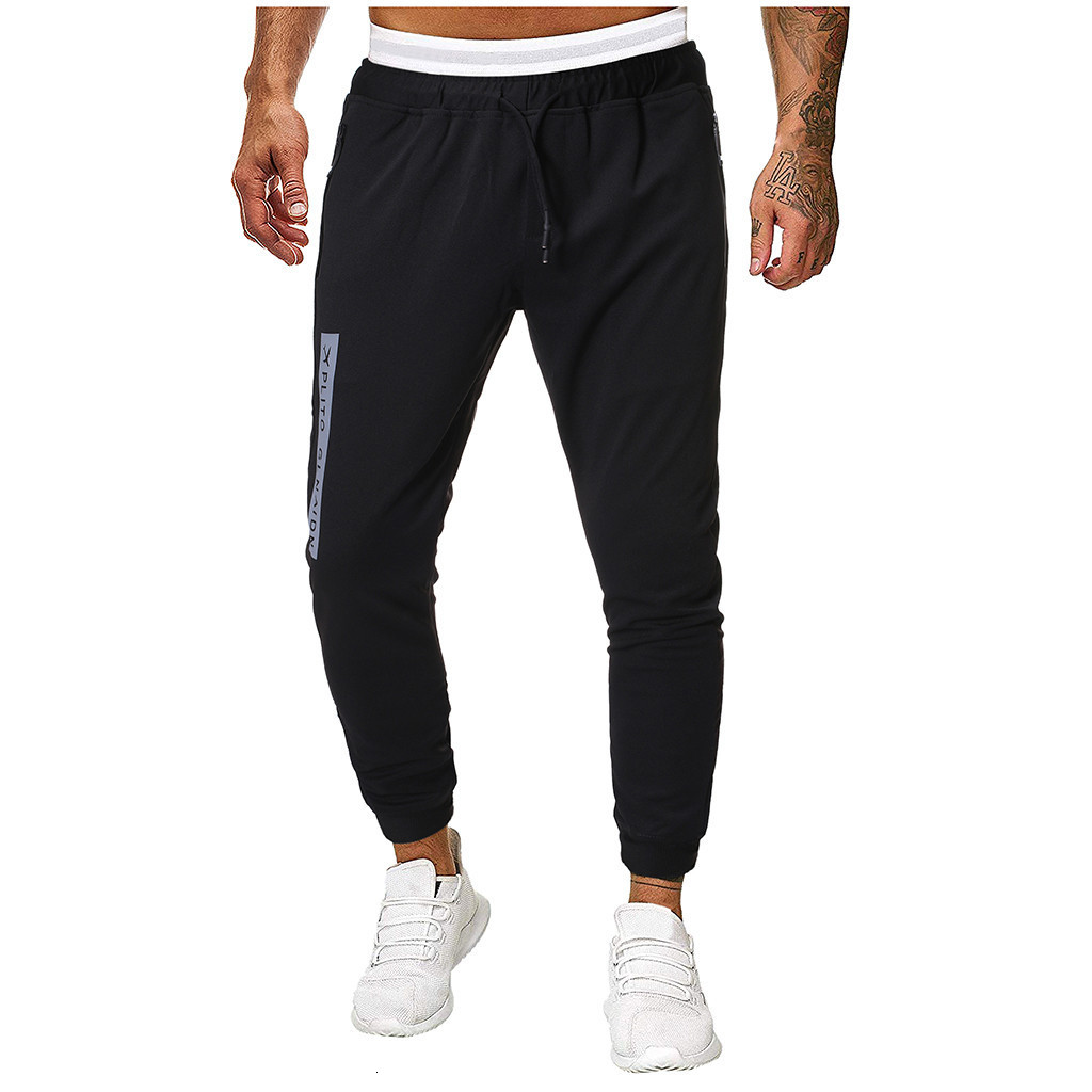 Men Joggers Sweatpants Men's JoggerTrouser Men Splicing Pure Color Overalls Casual Pocket Sport Work Casual Trouser Pants M-4XL