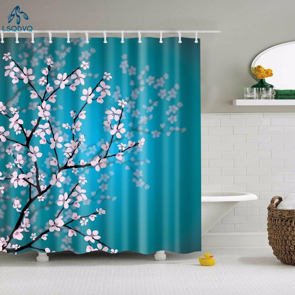 >Floral Bamboo Dandelion Maple Leaf Flower Fabric Waterproof <font><b>Polyester</b></font> <font><b>Shower</b></font> <font><b>Curtains</b></font> Bathroom <font><b>Curtain</b></font> Bath Accessory Printing