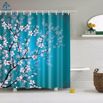Floral Bamboo Dandelion Maple Leaf tkanina w kwiaty wodoodporne poliestrowe zasłony prysznicowe kurtyna łazienkowa akcesoria do kąpieli drukowanie tanie i dobre opinie LSQDVQ Poliester Tradycyjny chiński Ekologiczne Zaopatrzony