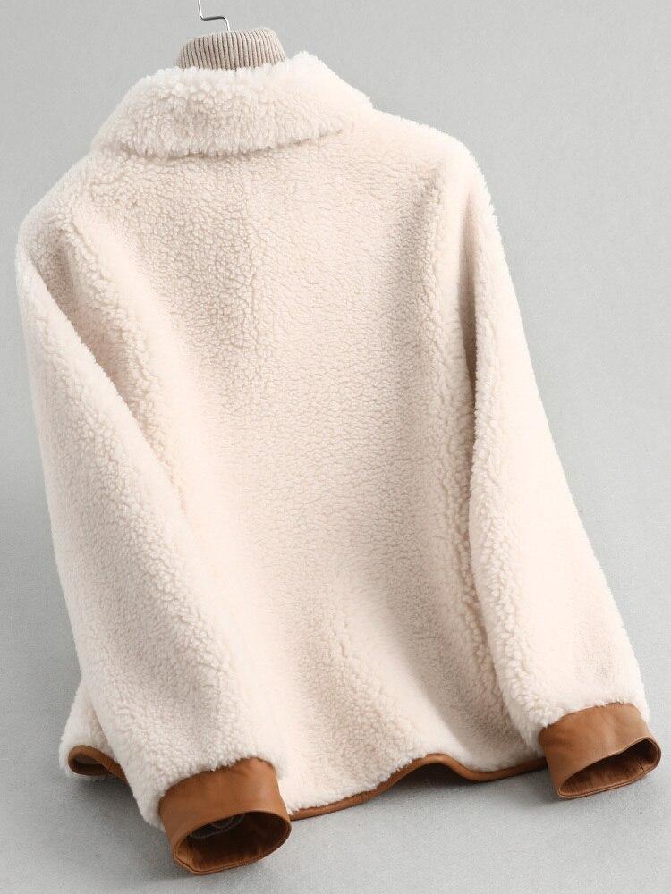Fur Real Coat Female Lamb Fur Korean Jackets 2020 Autumn Winter Jacket Women Wool Coats Slim Outwear Abrigo Mujer MY3520 S