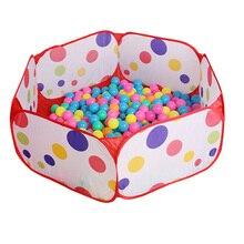 Забавные гаджеты экологичный манеж с морем из мячиков Яма бассейн бобо мяч палатка складной(шары нет Inlcude) Детская игрушка игровой домик