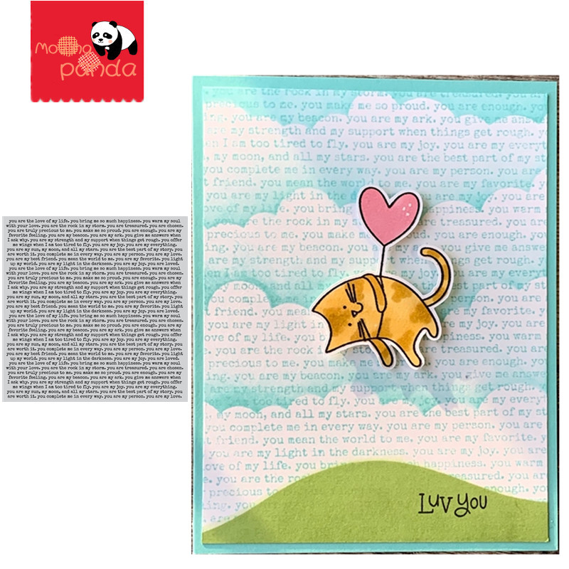 YOU ARE BACKGROUND STAMPS Metal Cutting Dies DIY Scrapbooking Craft Die Photo Invitation Cards Decoration