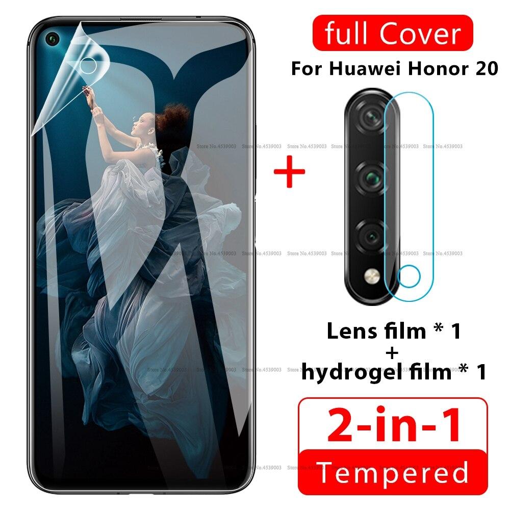 2 en 1 Hydrogel Film Pour Huawei Honor 9X 20 V30 Pro 8X 8C 10 V20 Clair Caméra Film Pour Huawei Honor 9X 20 10 V20 8X 8C Film