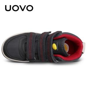 Image 5 - Uovo осень зима Детская мода повседневная обувь Лидер продаж Обувь для мальчиков и девочек Mid CUT совета Обувь дети Спортивная обувь размер EUR 28 # 39 #