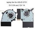 Laptops CPU Lüfter Für Asus ROG Strix G17 G731G G731GV G731GW G731 Grafikkarte Fan GPU Kühler DC 12V 5V 13NR01Q0P04011