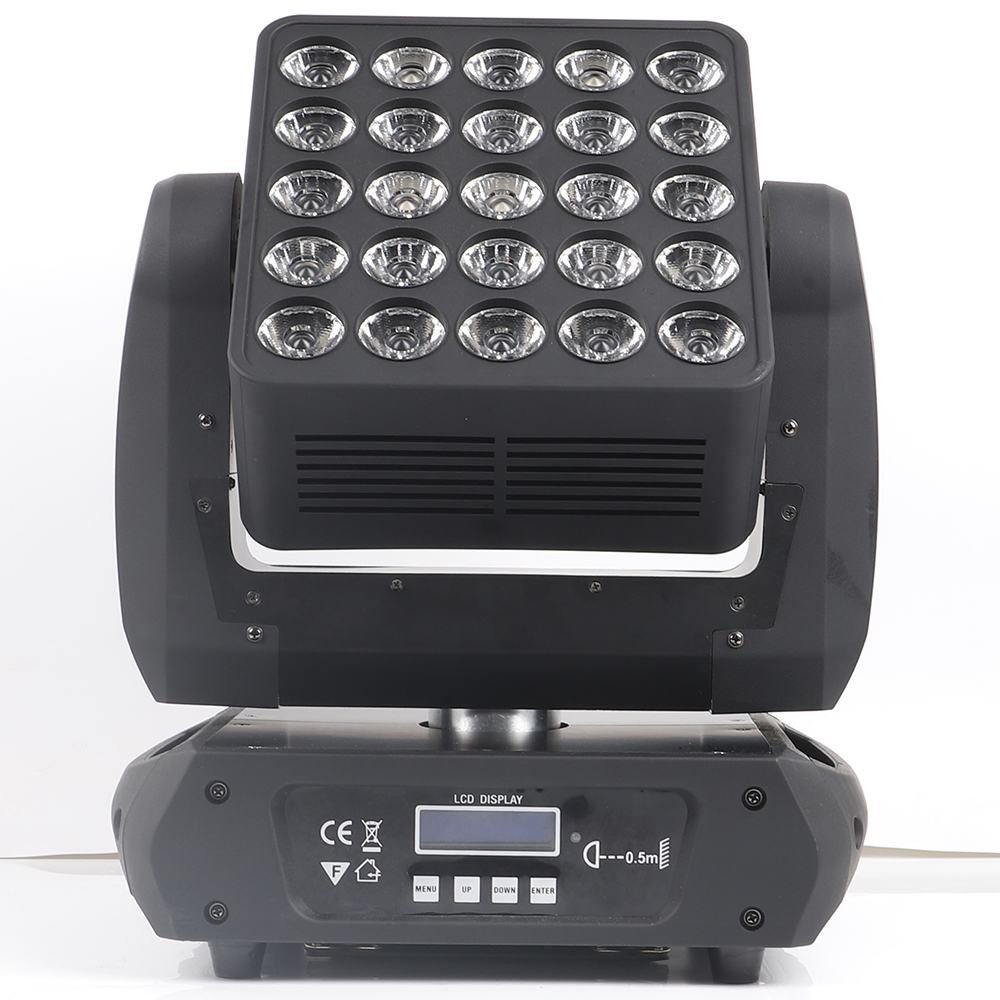 Led Matrix 25x12w CREE Rgbw 4in1 Beam Wash 2in1 Moving Head Light Led Matrix Blinder Pan Tilt Infinite Moving Head Light Dj