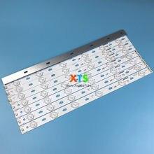 5 conjuntos = 40 pces para konka led backlight strip para led39e330ce led40f3300dc 35016696 35016697 alumínio kj390b30