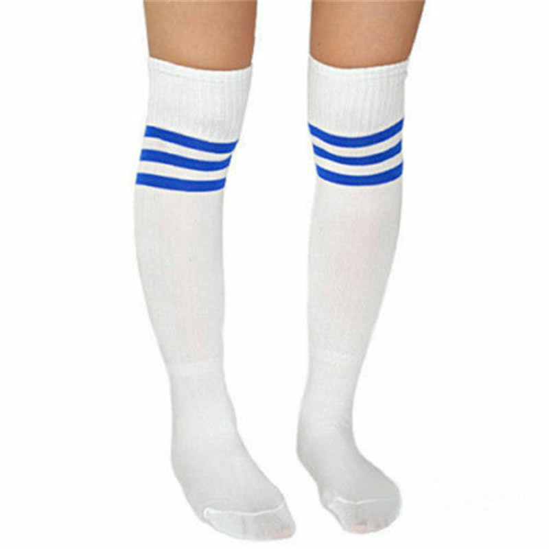 Unisex Adults Striped Soccer Socks Men Baseball Football Thicken Over Knee Ankle Sports Long Socks Girl Women Sports Stockings