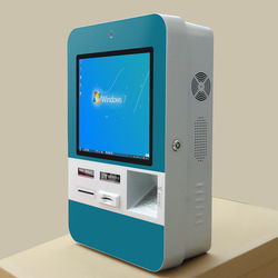 Rj45  self service Touch interactive payment terminal digital signage visitors managament system kiosk