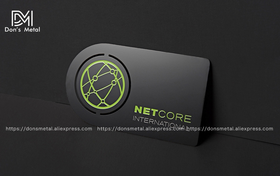 High-end stainless steel business card custom hollow metal card black business card design and production