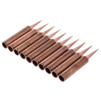 10 Pcs Copper Solder Screwdriver Iron Tips Soldering Welding Head 900M-T-I Lead Free 1pcs solder iron tips t12 series t12 ils dl52 i il j02 jl02 js02 soldering iron tips welding tip soldering welding stings