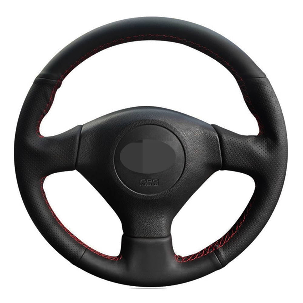 Чехол рулевого колеса автомобиля черная искусственная кожа для Subaru Legacy Forester Outback Impreza WRX 2003-2007 Saab 9-2X 2005 2006