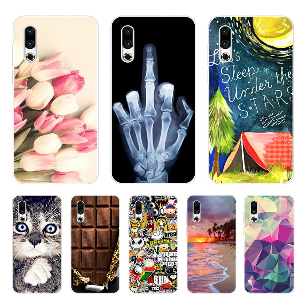 For <font><b>Meizu</b></font> 16S Case 6.2'' Painted Soft TPU Silicone Back phone Cover For <font><b>Meizu</b></font> 16s <font><b>16</b></font> S Slim Coque For Meizu16S case bumper clear image