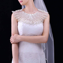 TRiXY G08 White Bridal Bolero Wedding Bolero Bridal Cape Long Wedding Shawl Lace Jacket Party Coat Bride Cape Bridal Dress Cloak