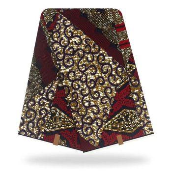 100%Cotton African Wax Dye Prints Fabric High Quality Ankara Style Veritable Dutch Wax Block Fabric 6Yards/Pcs For Wedding Dress