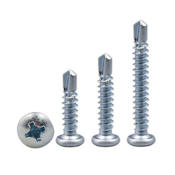 10/20/50/100PCS M4.2 Round Head Screws Philips Self Drilling Tapping Screw GB/T Pating Zinc image