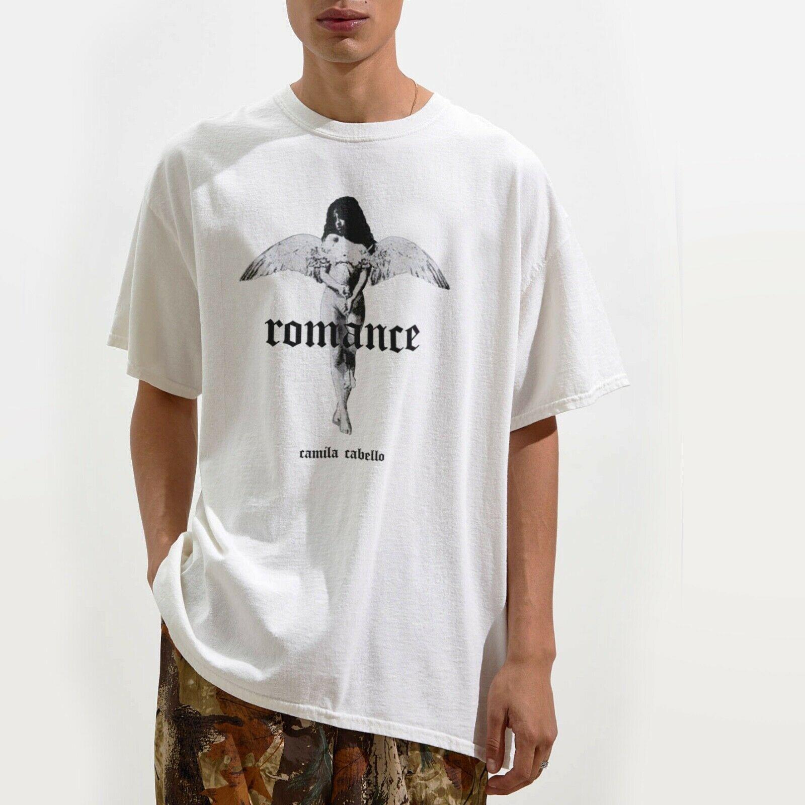 Camila Romance T Shirt Grunge  Harajuku Streetwear Shirt Men  Angel Liar Cabello Music Havana Tee