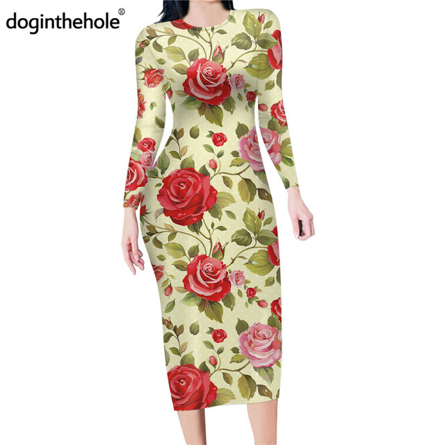 Nouveau Femme Imprimé Floral Peplum Frill Wiggle Crayon moulante Midi Robe 8-22