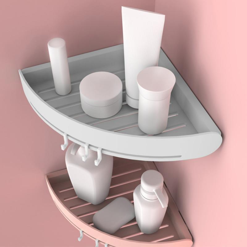 2019 Corner Storage Holder Shelves Rack Bathroom Kitchen Punch-free Suction Cup