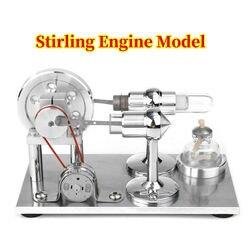 Nuevo Modelo de Motor Stirling de aire caliente de acero inoxidable, juguete educativo, Kit de prueba de ciencia, para niños
