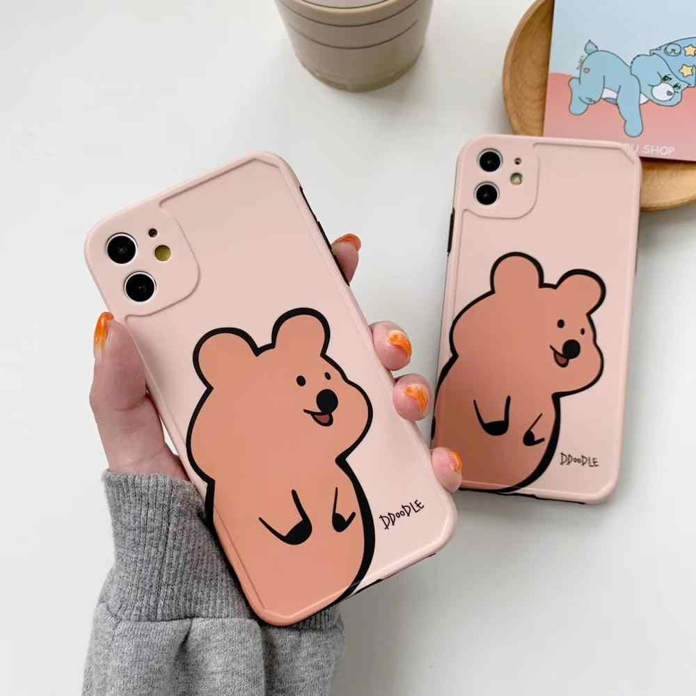 Caixa Do Telefone Do Urso Dos Desenhos Animados Bonitos Do Graffiti Para O Iphone 11 Pro Max X Xs Xr 7 8 6s Mais Ins Anime Cuidados Ursos Claro Capa Macia Coque Aliexpress