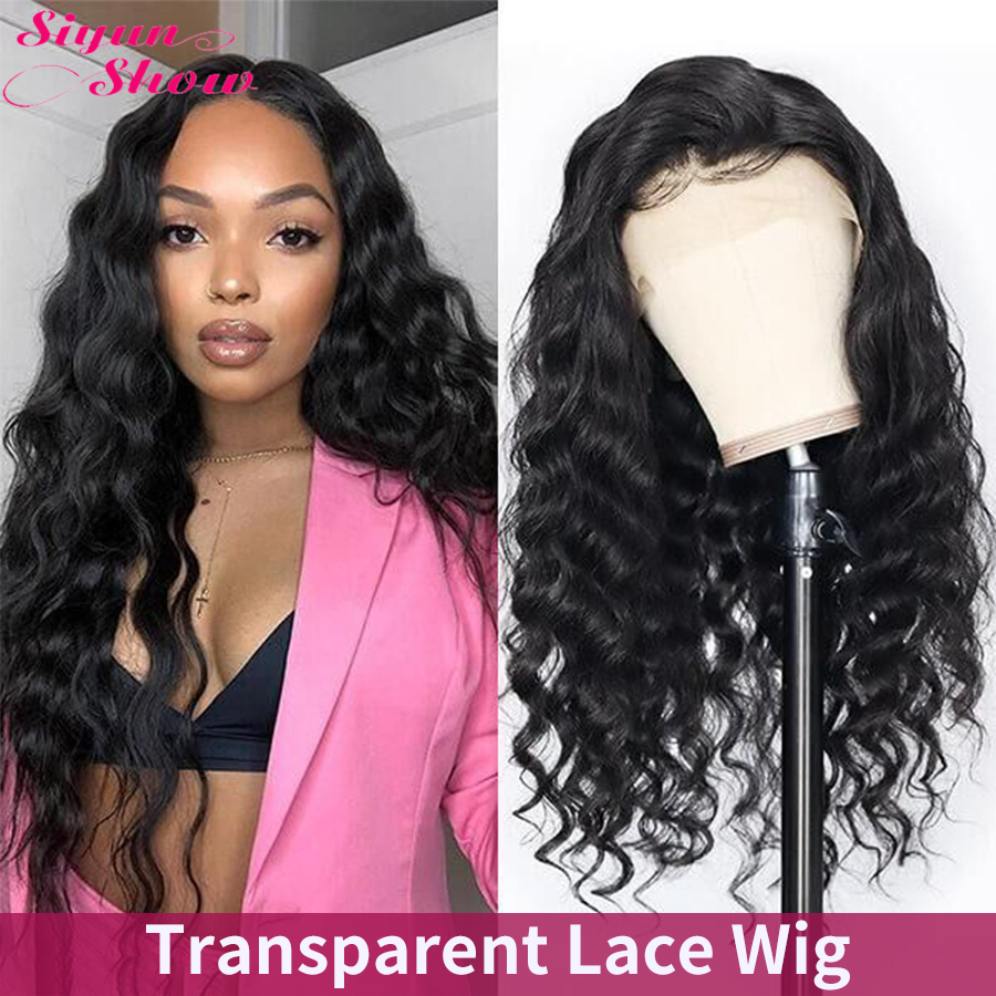 Siyun Show Transparent Lace Wigs Loose Deep Wave Wig 30 Inch Pre Plucked 13x6 Lace Front Human Hair Wigs For Women Brazilian Wig