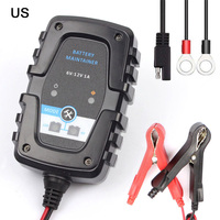 Smart Battery Charger Maintainer 6V 12V 1A for Car Motorcycle Scooter Deep Cycle AGM GEL VRLA Car Battery Charger