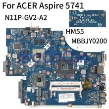 Kocoqin Laptop Cho Acer Aspire 5742 5741 Mainboard N11P-GV2-A2 HM55 NEW71 LA-5893P MBBJY0200(China)