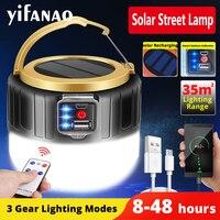USB Aufladbare Super Helle Scheinwerfer Solar power LED Arbeit licht Tragbare Laternen Nacht beleuchtung Notfall Licht