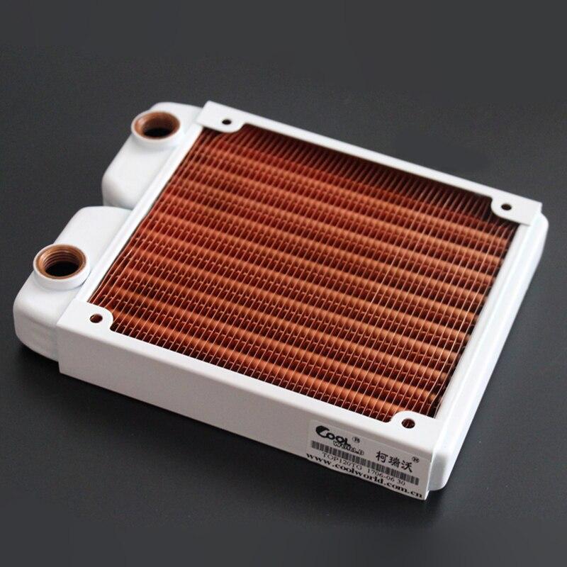 Ke Ruiwo Катюша серии 120 мм полностью красный медный радиатор водяного охлаждения подходит для вентиляторов 120 мм - Цвет лезвия: White stent