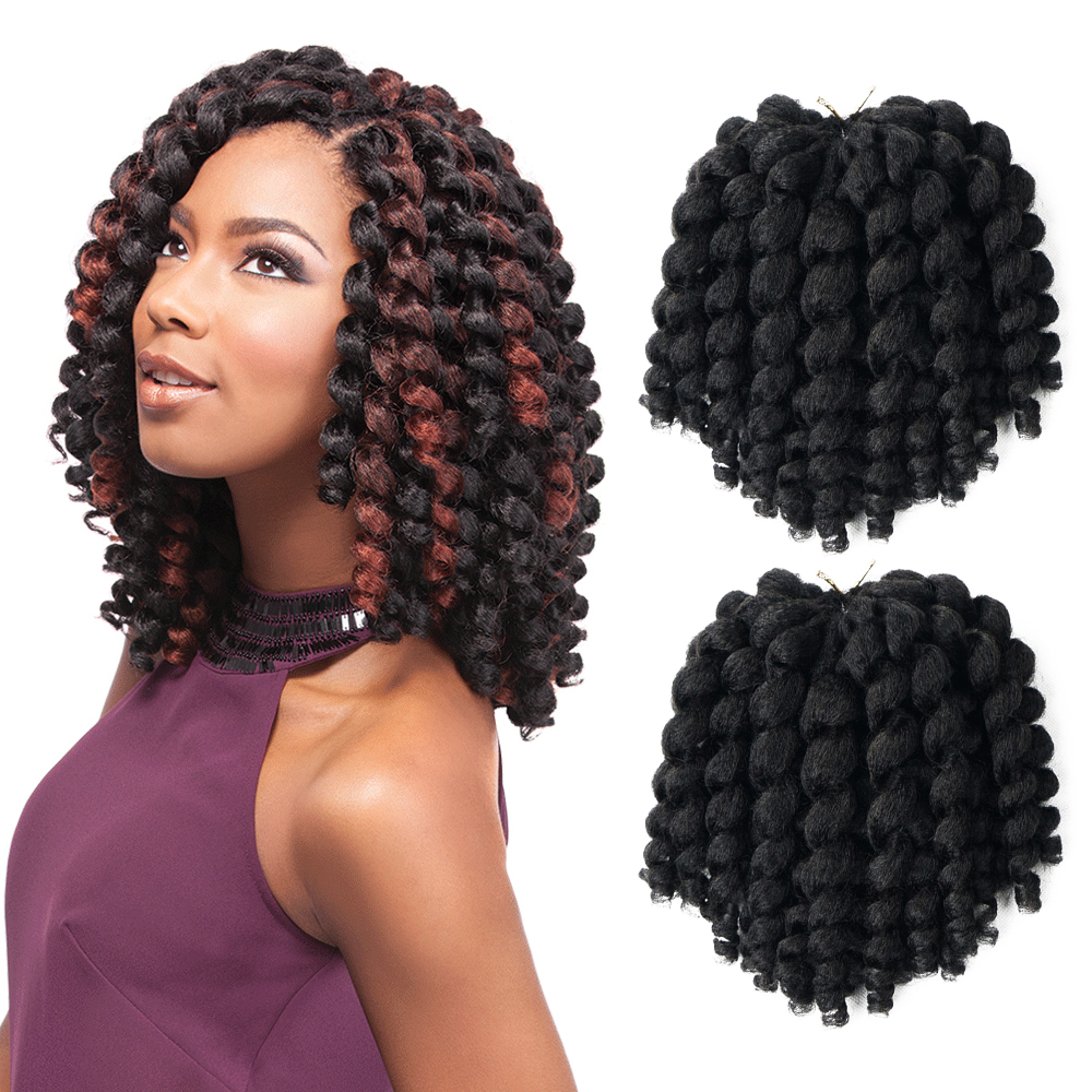 Jumpy Wand Jamaican Bounce Curl Crochet Hair Crochet Braids Hair Extensions Ombre Synthetic Braiding Hair