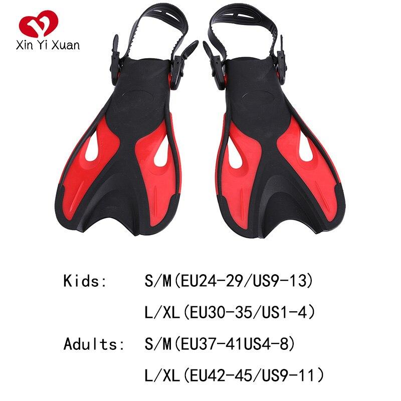 Подводный плавник регулируемый плавательный ming бесплатно Дайвинг ласты для ног подводное плавание силиконовые Плавающие Ласты для детей