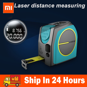 Xiaomi Mileseey DT10 láser cinta métrica 2 en 1 láser Digital Medidor láser telémetro láser con pantalla LCD Digital, gancho magnético