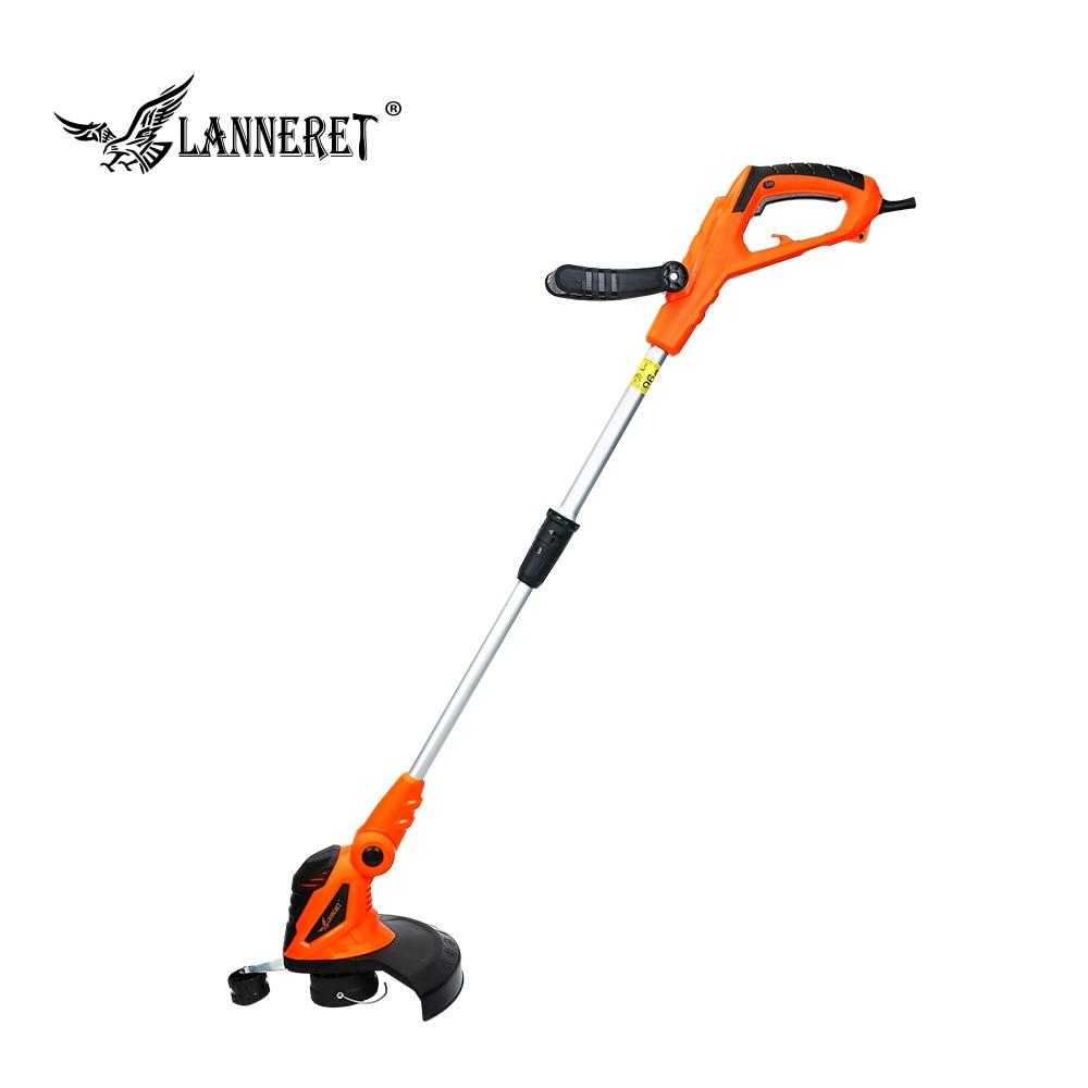 LANNERET 550W Electric Grass Trimmer Hand Cleaner Grass Cutter Machine Line Trimmer Ajustable Shaft Rotation Tube Garden Tool