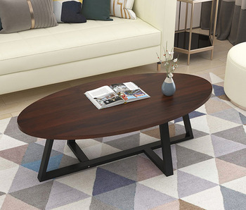 Nordic simple coffee table living room modern small apartment creative small table sofa side table oval 120cm length solid wood coffee table round small table simple sofa side table nordic side table