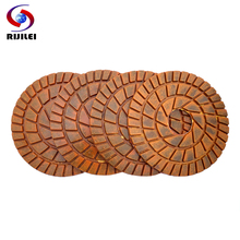 RIJILEI 8inch Diamond polishing pads 200mm Copper bond wet renovate floor pad for granite marble stone concrete