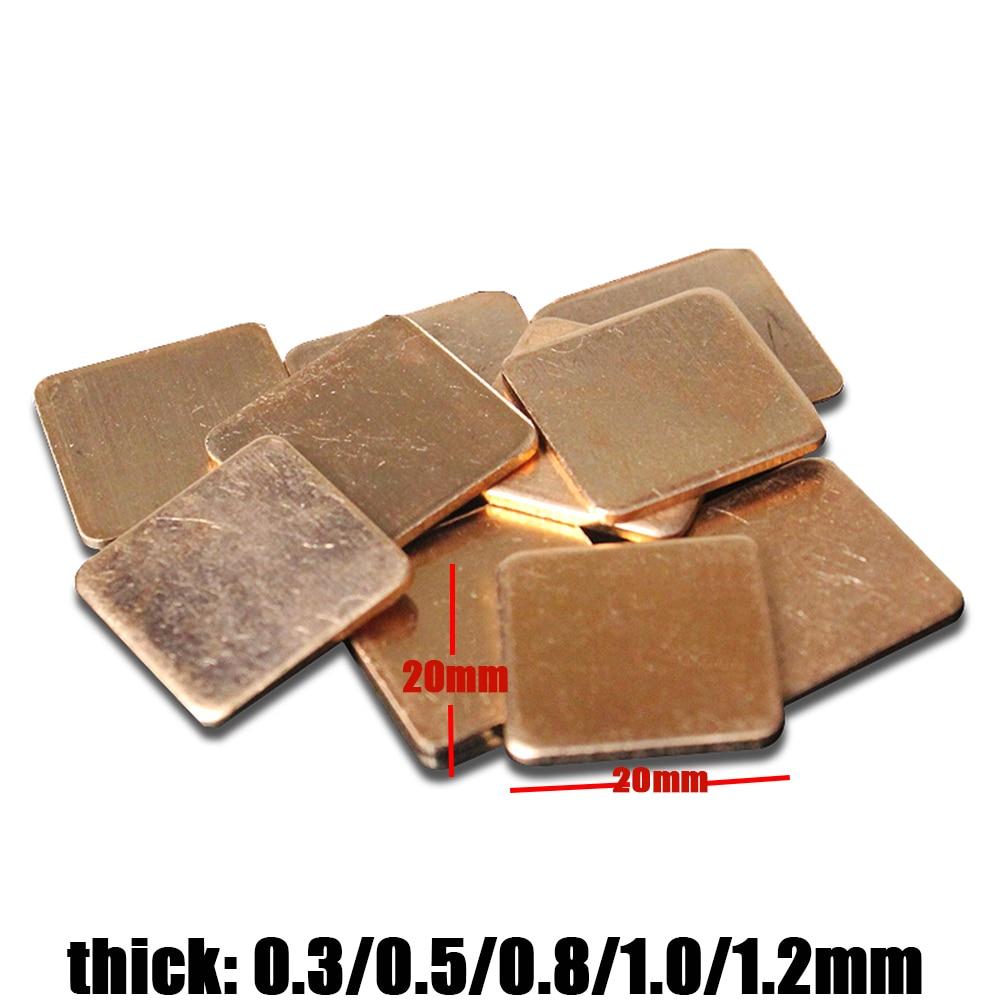 100 Lot of 15 x 15 x 1.5mm Copper Shim Pad Cooling Heatsink For Laptop CPU GPU