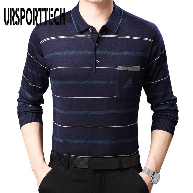 High Quality Men Polo Shirt Long Sleeve Striped Polo Shirts Camisa Polos Masculina Popular Casual Cotton Plus Size S-3XL Tops