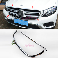 For Mercedes Benz GLC Accessories 2016 2017 2018 Front Grille Bumper Chrome Car Styling Accessories|Chromium Styling| |  -