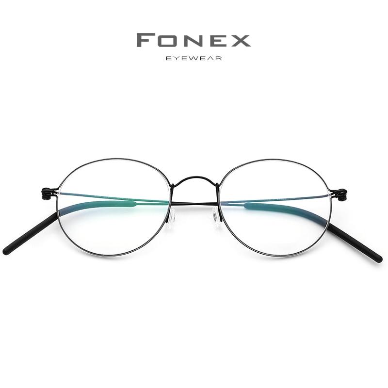 Image 2 - FONEX B Titanium Glasses Frame Women Prescription Eyeglasses Men 2019 New Korean Myopia Optical Frames Screwless Eyewear 7510-in Women's Eyewear Frames from Apparel Accessories