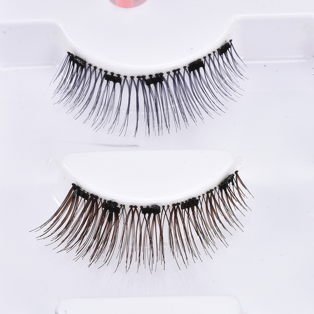 3D Mink Hair False Eyelashes 3 Pairs Magnetic Eyelashes With 1 Pc Magnetic Eyeliner and Tweezer Set Makeup Beauty Extension Tool 4