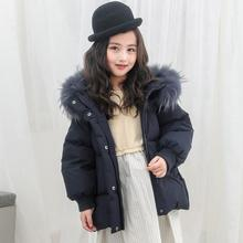 2020 Winter New Girl Down Coat Children Fashion Real Fur Collar Outerwear Thicker Warm Hooded Down jackets for girls Y3450